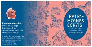 2019-09-11au22_La Charité_Invitation expo L'animal