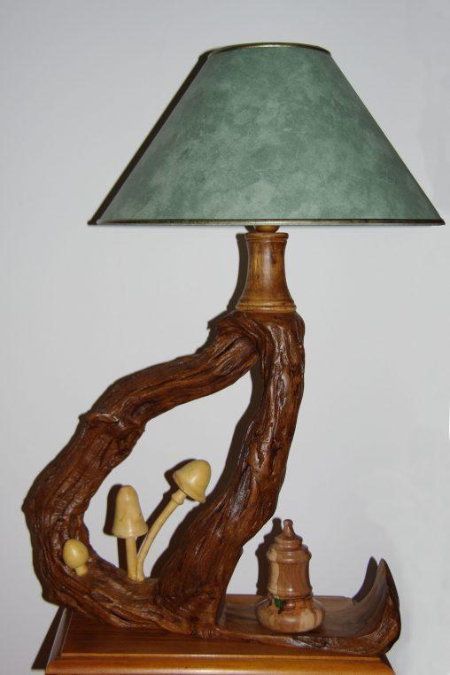 Lampe aux champignons - JC PASTY