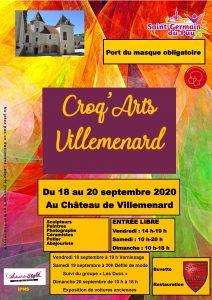 2020-09-19au20_Affiche Croq arts Villemenard_Saint Germain du Puy